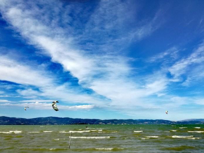 Si alza il vento-Lago Trasimeno
