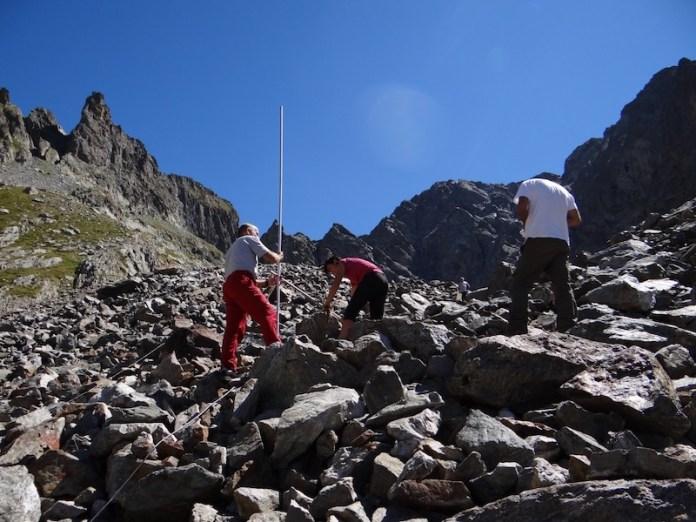 Rilievo di un Rock Glacier nelle Alpi Marittime (CN)
