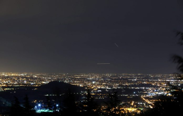 Inquinamento luminoso della pianura veneta ripresa dal Parco Regionale dei Colli Euganei
