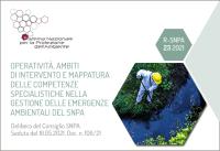 Operatività, ambiti di intervento e mappatura delle competenze specialistiche nella gestione delle emergenze ambientali SNPA