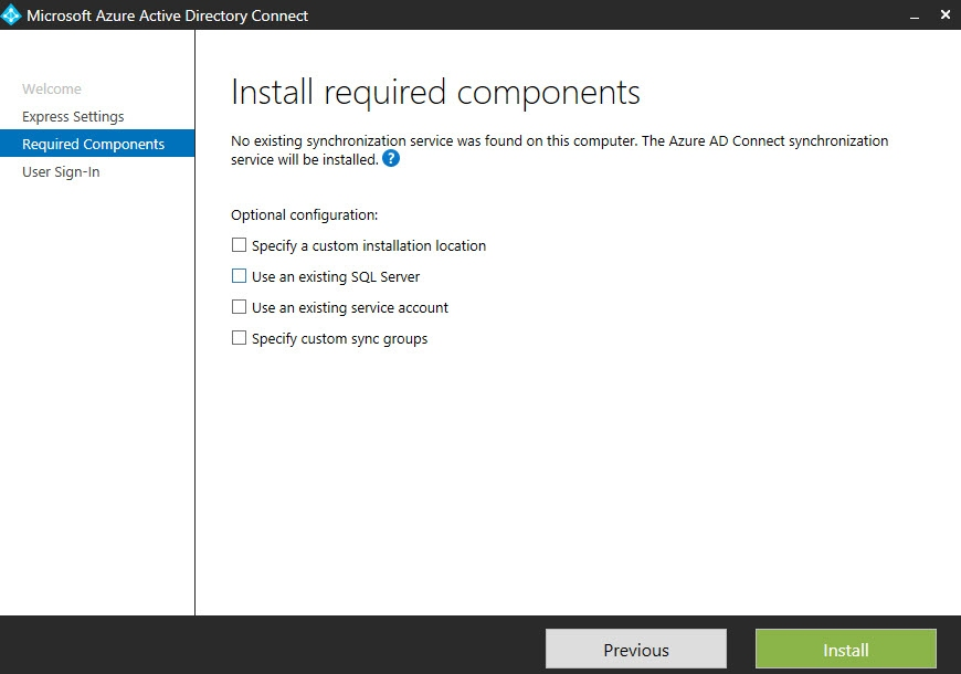 Install Required Components