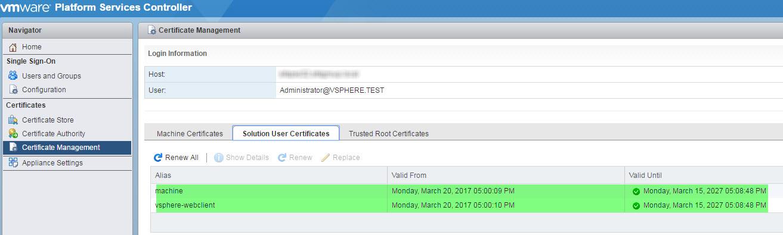 Replace Ssl Certificates On Vmware Psc V65 Ian0x0r Snurf