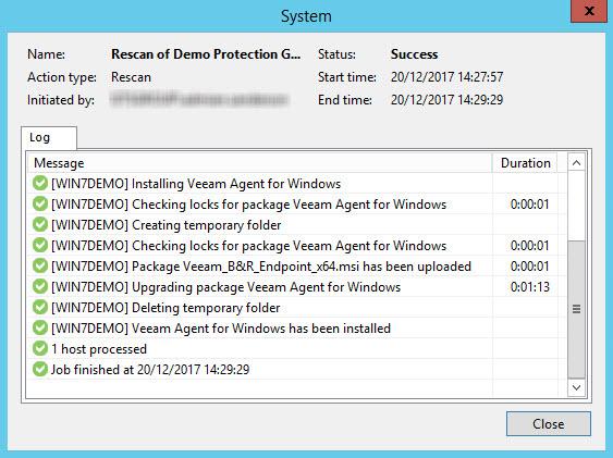 Managing Veeam Agent for Windows with Veeam 9 5 U3
