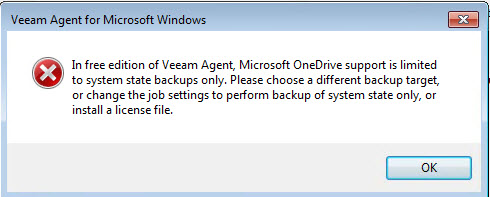 Veeam Agent for Windows and OneDrive you say? And its free