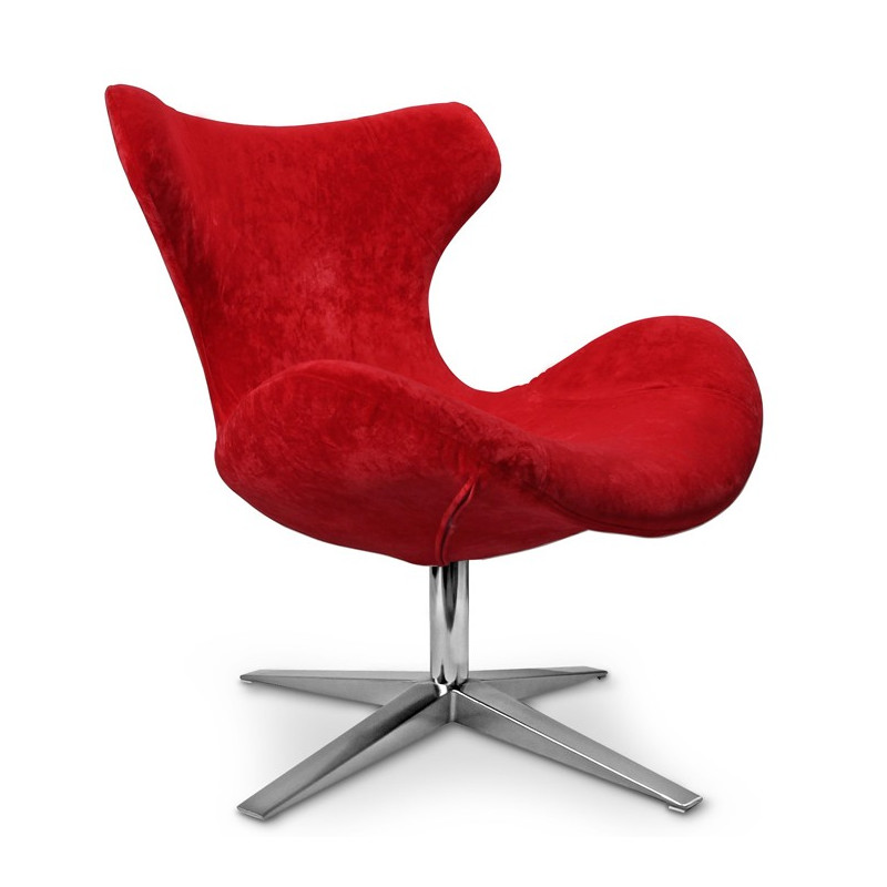 Fauteuil Design En Tissu Rouge Buzzy