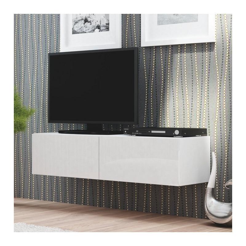 Meuble Tl Blanc Suspendu 160x40cm Casa