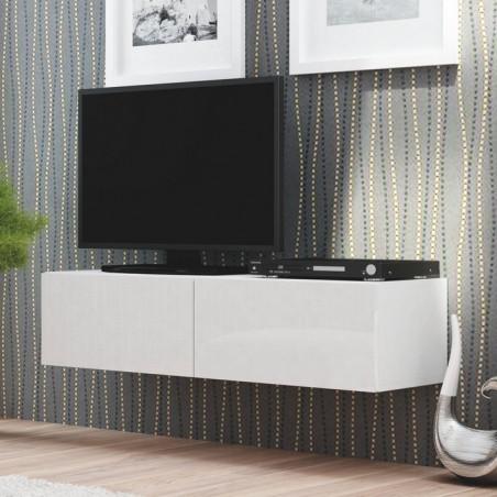 meuble tele blanc suspendu 160x40cm casa