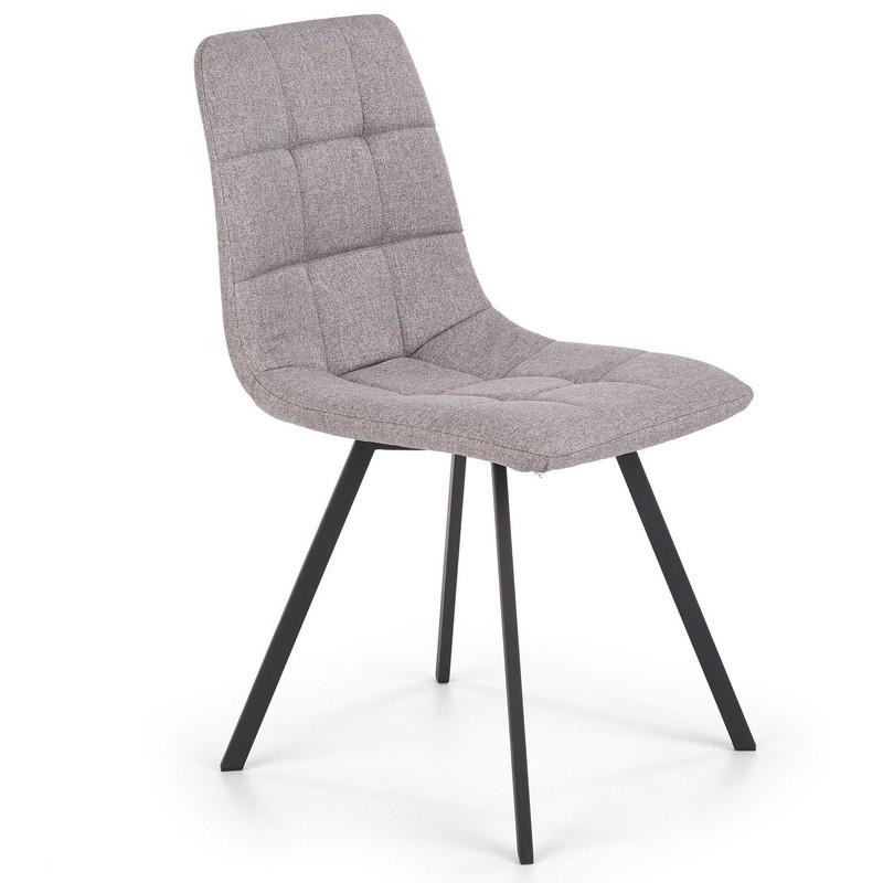 chaise de salle a manger grise avec pieds en metal noir ottawa