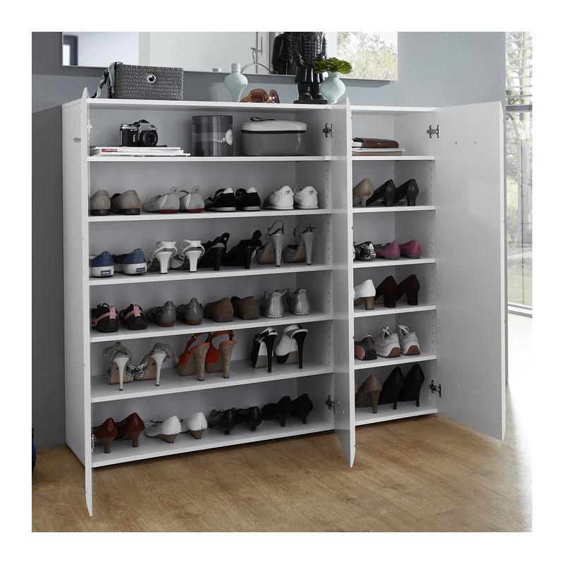 grand meuble a chaussures blanc design alama