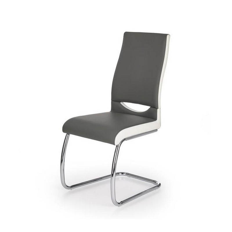 chaise grise salle a manger design olly