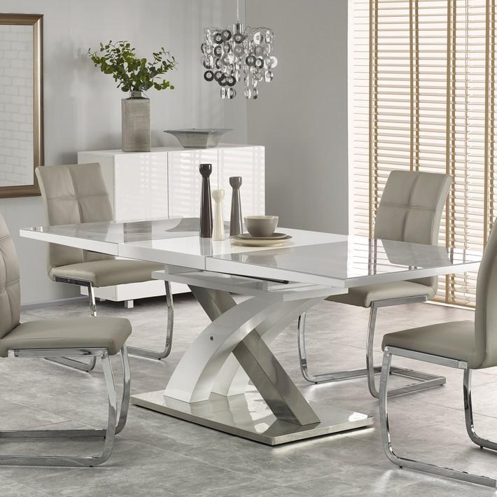 promo table a manger extensible blanc et gris design flora