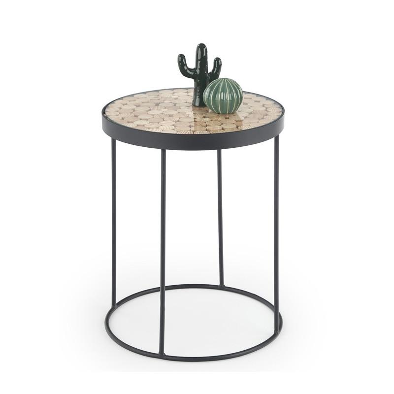 table d appoint ronde industrielle umea 47x61cm