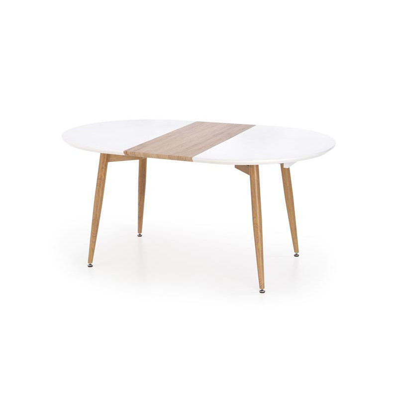 table a manger scandinave avec rallonge 160 200cm x 90cm harry