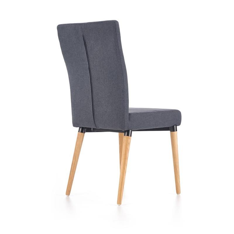 chaise scandinave bois et tissu gris mellie