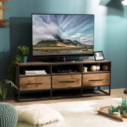 meuble tv design industriel 150x40cm tinesixe