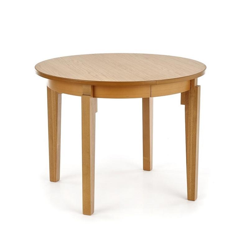table ronde extensible 100 200cm placage bois cox