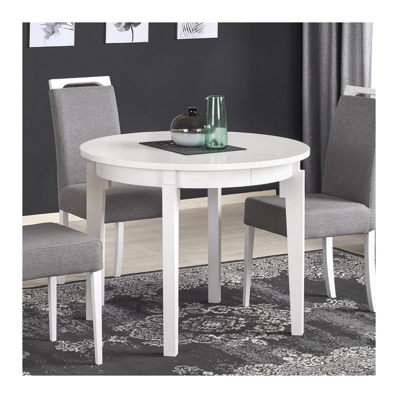 table ronde extensible blanche cox