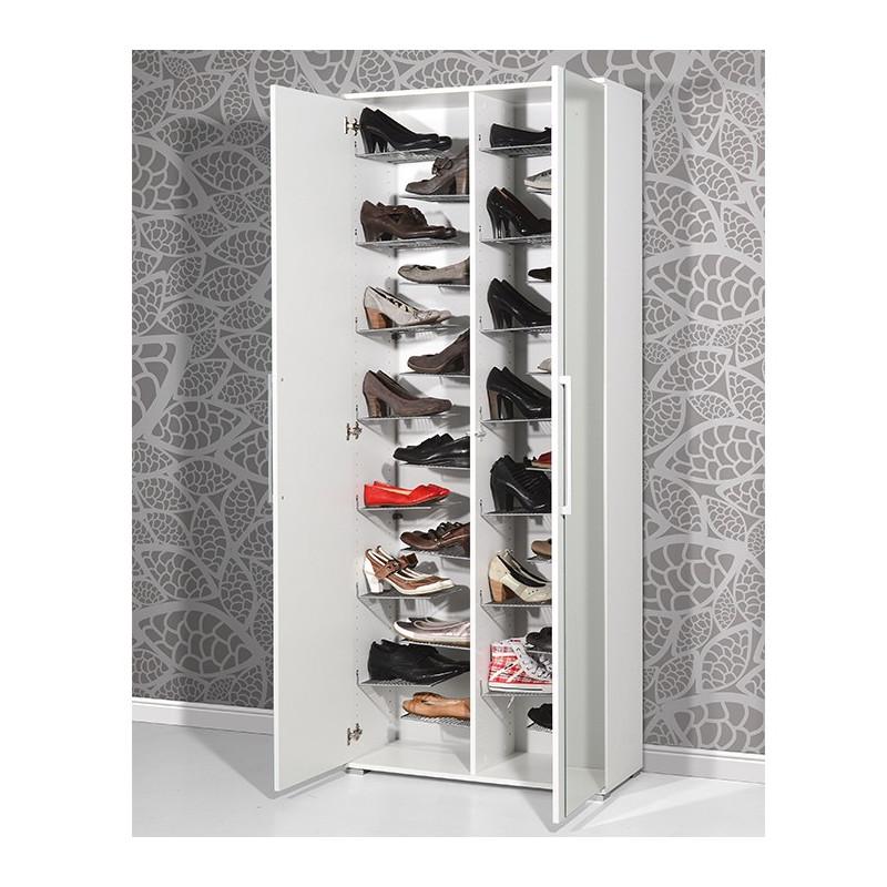 Armoire Chaussures Avec Miroir Lila Meubles