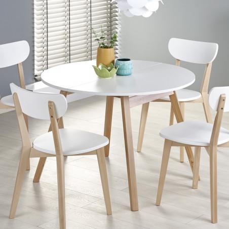 table ronde scandinave avec rallonge 102cm storend