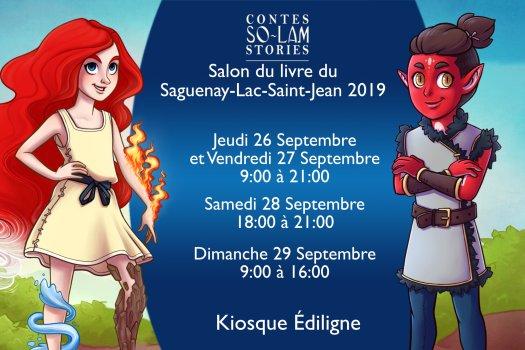 Dédicaces Salon du livre du Saguenay-Lac-Saint-jean 2019