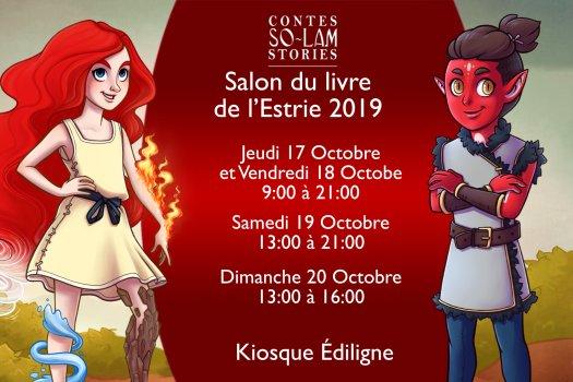 horaire dédicaces Salon du livre de l'Estrie 2019