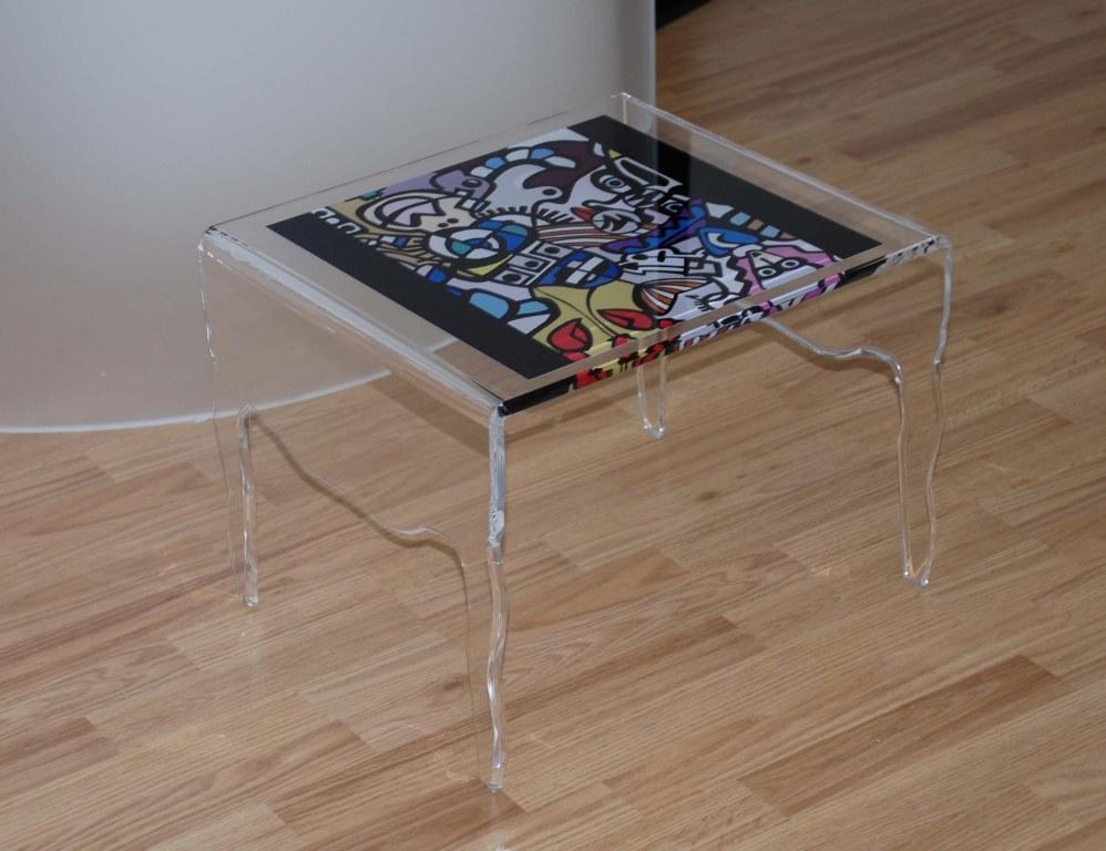 table basse en plexiglass meuble picasso