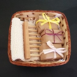 Pamper Basket of soap & accessories