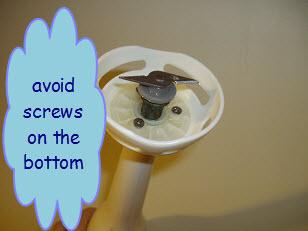 avoid screws in the bottom of your stick blender