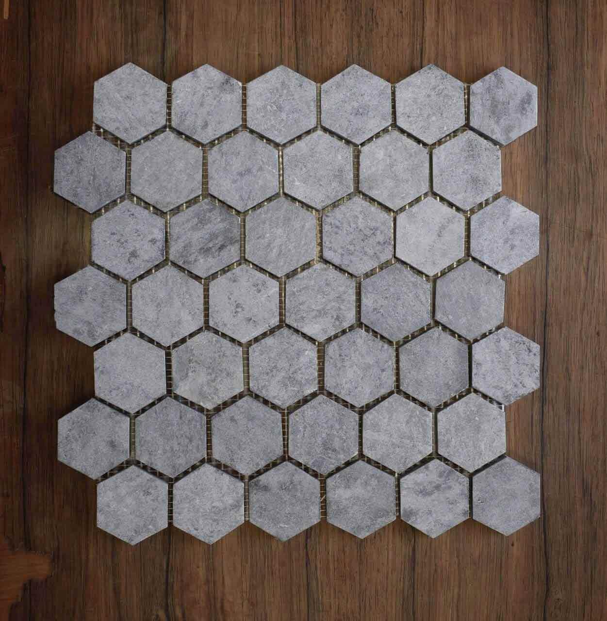 honed soapstone hexagon mosaic tile 30 sheets