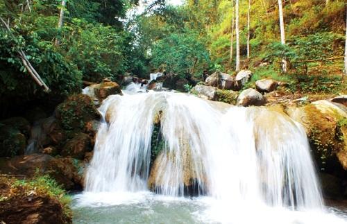 Indahnya Wisata Curug Kulon Progo di Grojogan Sewu