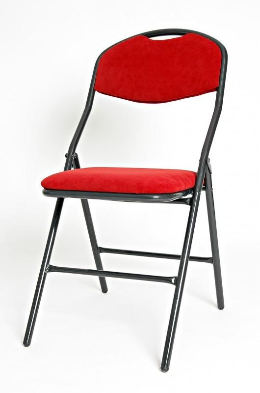 Sobeltrade Chaise Pliante En Mtal Velvet 2 Recouverte