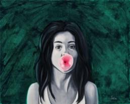 "Bubblegum Girl - 16"" x 20"""