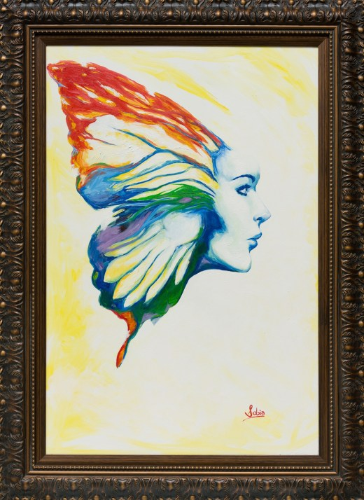 Sobia Shuaib - Wings 24x36 - framed