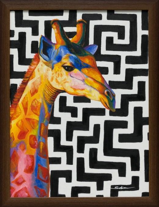 Sobia Shuaib - Refu 18x24 framed