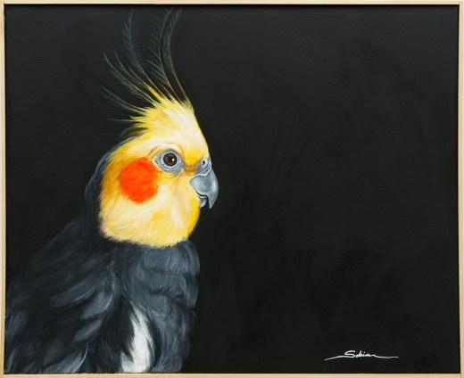 Sobia Shuaib - Charlie 36x48 framed