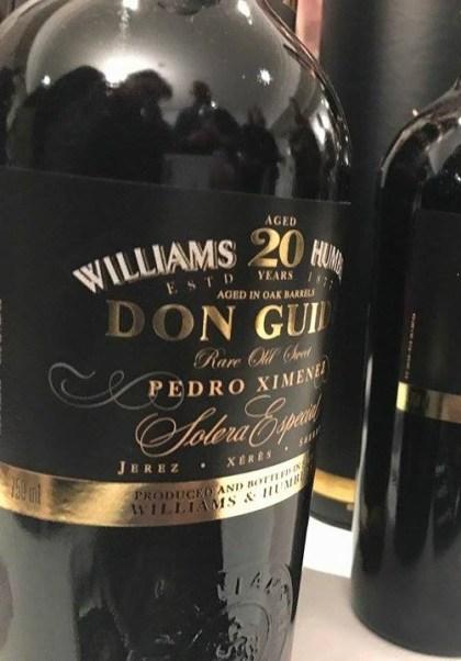 Vino dulce Pedro Ximénez Don Guido 20 años