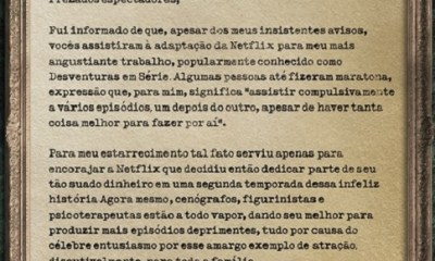 Carta Lemony Snicket