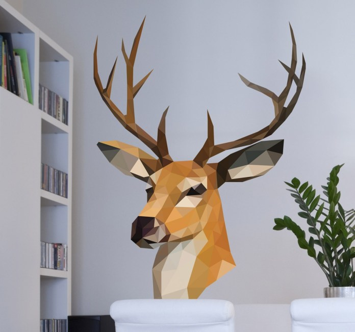 vinilo-decorativo-ciervo-efecto-3d-7231