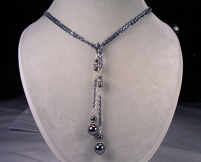 Lariat Necklaces Pearl Gemstone Silver Crystal Lariat