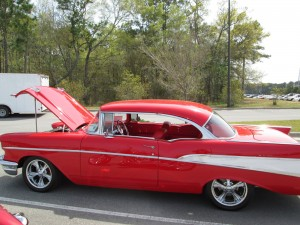 Red 1957 Chevy