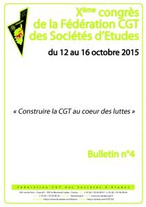 10e Congrès : Bulletin n°4