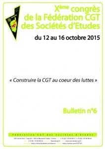 10e Congrès : Bulletin n°6