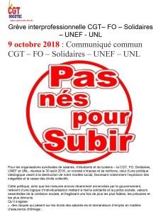 SOCOTEC : Grève interprofessionnelle CGT– FO – Solidaires – UNEF – UNL