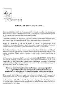 Seconde journée de mobilisation le 21 septembre !