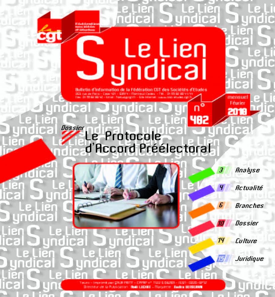 Le lien syndical n°482 – Février 2018