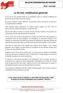 Bulletin d'information CGT Huissiers de justice n°62