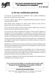 Bulletin d'information CGT n°51 des Greffes des Tribunaux de Commerce