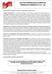 Bulletin d'information CGT n°52 des Greffes des Tribunaux de Commerce