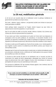 Bulletin d'information des salariés des commissaires-priseurs n°47