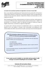 Bulletin d'information CGT Administrateurs Mandataires Judiciaires n°103
